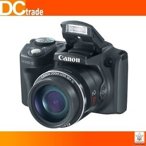 Canon PowerShot SX500 IS 16MP 30x Zoom Black Digital Camera