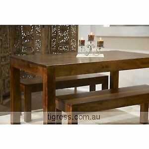 """NEW """"Block"""" Dining Table 180cm + 2 x Bench Dining Seats Package Castle Hill The Hills District Preview"""
