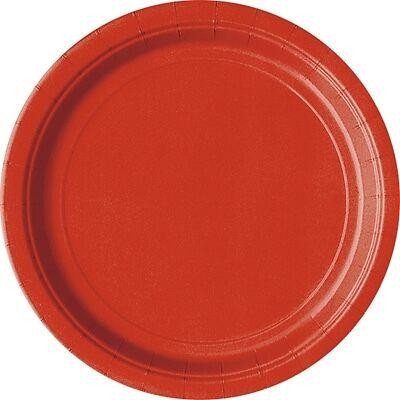 rote Partyteller, Pappteller-Einwegteller in rot, 8er Pack, d=23cm (Rot Party Pappteller)
