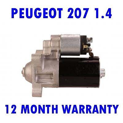 PEUGEOT 207 1.4 1.6 2006 2007 2008 2009 2010 2011 2012 - 2015 RMFD STARTER MOTOR