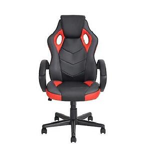 NEW* COMPUTER GAMING CHAIR 226170146 Ergonomic Faux Leather Office Racing