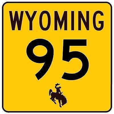 Aufkleber / Autoaufkleber Wyoming Route 95 bronco - US5264D