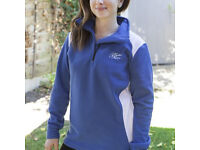 Mother Nature Maternity Fleece with 1/4 zip,Navy,brand new in pack size 10