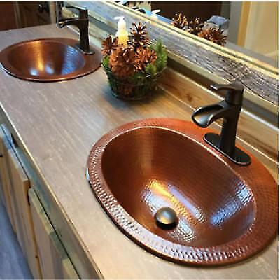 Antique Copper Hammered Vessel Sink - vintage Copper sink oval Handmade Antique design hammered,sink Bathroom Basin