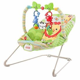 Fisher Price boucing and vibrating chair exactly like the picture. Excellent condition!