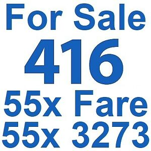 For Sale: 416 Area Code Phone Number 416.55x.3273 • 416.55x.FARE