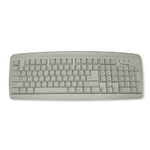 Manhattan True-Touch PS/2 Universal Azerty Keyboard - White