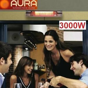 NEW AURA INFRARED PATIO HEATER ARMW-3730240S 232169428 MW Series 37 Infrared Heater 3000W 208-240V 12.5A