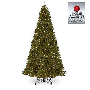 USED* 12' PRELIT CHRISTMAS TREE D6-NRV7-306C-12 212602017 HOME ACCENTS HOLIDAY NORTH VALLEY SPRUCE TREE