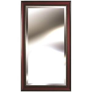 """New 24"""" x 48"""" Wood-tone Framed Mirror With Bead Accent (Pick-up Only) - DI1"""