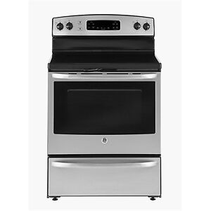 BRAND NEW STOVE GE SMOOTHTOP SELF CLEAN STAINLESS STEEL