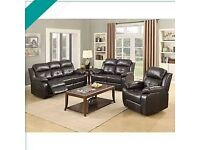 💖🎉Don't wait.! Order Now-CHICAGO RECLINER BLACK 3+2+1 SEATER SOFA AVAILABLE With fast delivery🎉💝