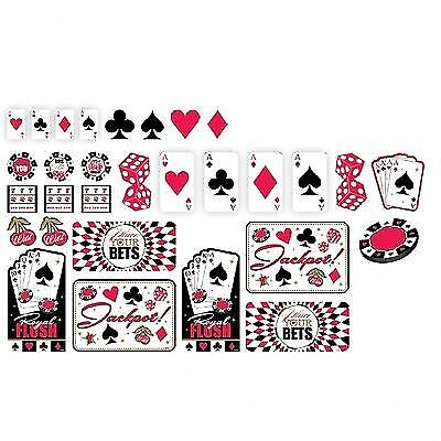 Ausschnitte Cutouts Raum Dekoration Casino Las Vegas Deko Black Jack Deko Party
