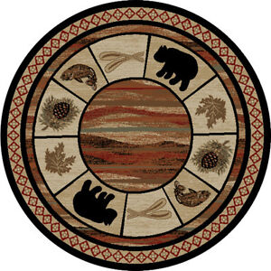 Brand New Five Foot Round Area Rug