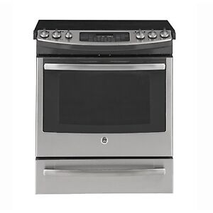 STOVE GE SMOOTHTOP SLIDE-IN STAINLESS STEEL OPEN BOX