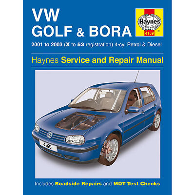 New Haynes Manual VW Golf Bora 4 cyl 01-03 Car Workshop Repair Book 4169