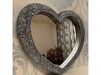 Home style antique style heart shaped mirror brand new