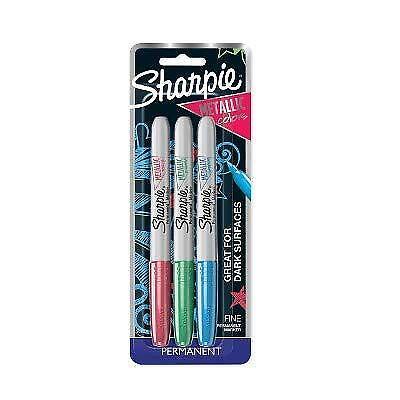 Sharpie 3ct Metallic Assorted Colors Multicolor