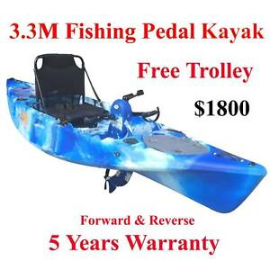 Budtrol kayak demo 11' fishing pedal kayak with seat, drive unit Riverwood Canterbury Area Preview