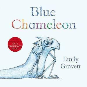 BLUE CHAMELEON by Emily Gravett Children's Picture Story Book Soft Cover NEW