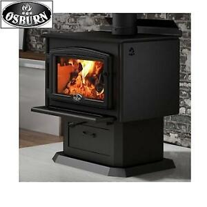 NEW* OSBURN WOOD STOVE OB02010 208331915 WITH BLOWER