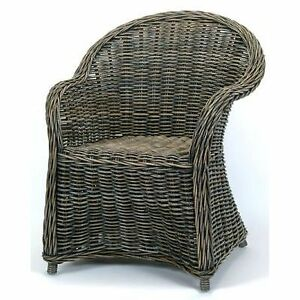Hand Woven Natural Kubu Rattan Wicker Dining Arm Chair New!