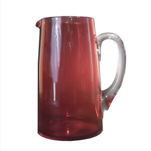 Antique English Cranberry Glass Tankard