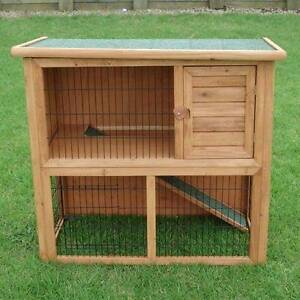 2 Storey Rabbit Guinea Pig Hutch with Mesh Floor Padstow Bankstown Area Preview