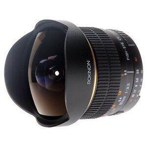 Rokinon 8mm F3.5 Fisheye Fish eye wide Lens Nikon camera