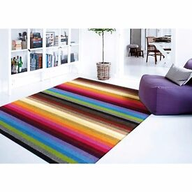Gorgeous Rainbow Rug, Washable, starting from £24.75. Brighten any room