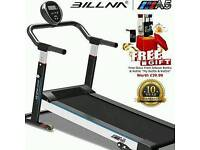 BILLNA A5 Foldable Slim Line Mechanical Treadmill Power Walking Running Machine