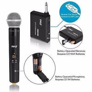 "PYLE PDWM13UH Wireless Handheld UHF Microphone System with 1/4"" Transmitter"