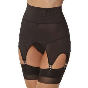 Sexy Vintage Look Stretch Girdle Garter Belt - S/M - Black, New