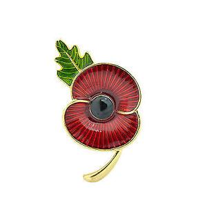 Brooch - Red Poppy Flower Pin - Christmas brooch