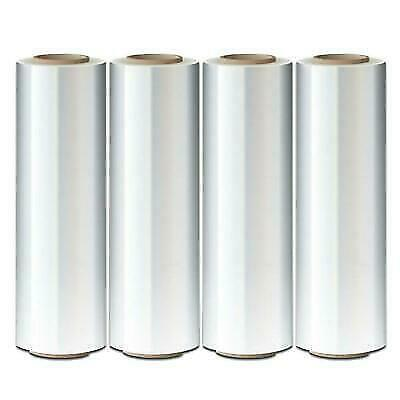 """Industrial Strength AVG Packaging Supplies Made in USA Stretch Pallet Wrap 3/"""" Inch X 1000 Ft Furniture Boxes Pallets 80 Gauge 3/"""" Core Clear Shrink Banding Film Roll 2-Pack"""