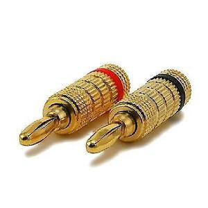 Speaker Banana Plugs - High-Quality Copper - Closed Screw Type -