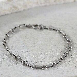 """Sterling Silver Cable 5mm Link Bracelet 6.5"""" (#3.2)"""