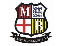 May & Baker FC Sunday are looking for Players! Drop us a message!