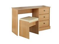 Kensington Dressing Table and Stool - Oak Effect