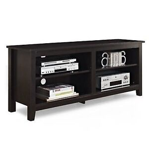 We Furniture 58 Wood Tv Stand Storage Console Espresso Ebay