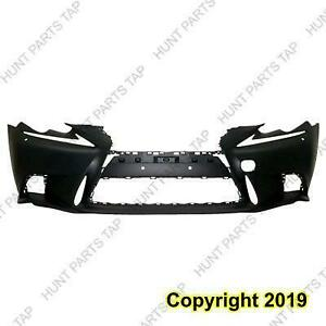 Bumper Front Primed Black With F Sport/Headlight Washer Capa Lexus IS250 2014-2015