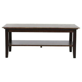 Solid pine coffee table with shelf v.good condition