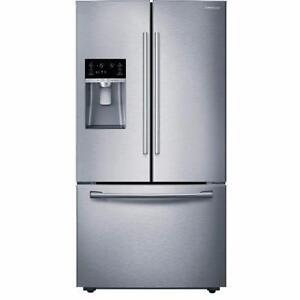Réfrigérateur SAMSUNG 30 po,  25.5 pi³ , Profondeur comptoir,  Distributeur d'eau et de glace, Acier Inox, (SKU:1048)