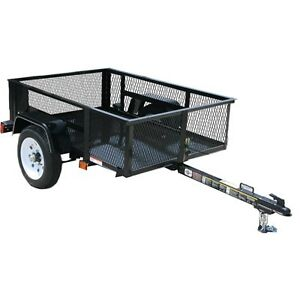Carry-On Trailer 2,000-lbs GVWR 3-ft 6-in x 5-ft Wire Mesh Utili
