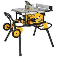 Brand new DEWALT DWE7491RS 10 in. Table saw with a rolling stand