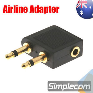 Airplane Airline Travel Headphones Earphone Jack Audio Adapter Converter 3.5mm
