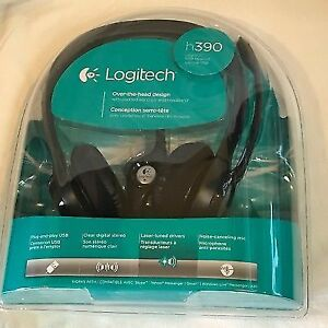 Clear Chat Comfort Logitech h390 USB headsets Brand New,unopened