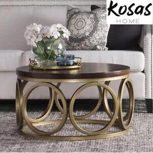 NEW KOSAS HOME ROUND COFFEE TABLE - 133493135 - GEMMA 32'' WOOD