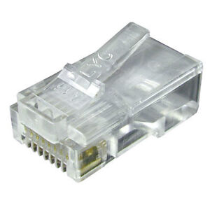 Cat 5 RJ45 network plugs With grey Hoods