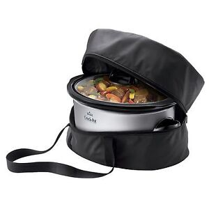 Crock Pot 7 quart slow cooker with a carry bag, $30